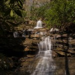 A waterfall along Mitchell Trail